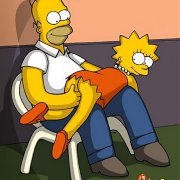 Homer, Bart, Lisa, Marge, Maggy - Family SEX