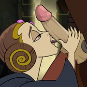 Padme Amidala shagged in doggy